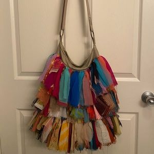 Karma Living Recycled cloth patchwork tote bag